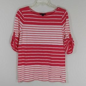 Tommy Hilfiger stripped boat neck blouse size M